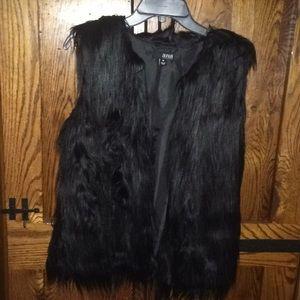 A.N.A. Faux Fur Black Vest